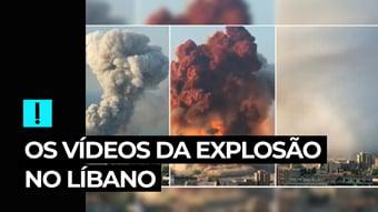 IMAGEM: Vídeo: veja as explosões em Beirute por diferentes ângulos