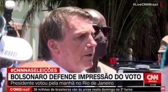 IMAGEM: Bolsonaro defende impressão de voto para possibilitar recontagem