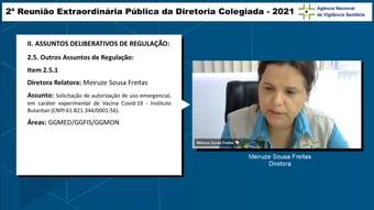 IMAGEM: 1×0: diretora da Anvisa vota por aprovação do 2º lote da Coronavac
