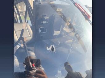 IMAGEM: Piloto de helicóptero da Record é baleado e faz pouso forçado