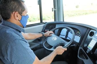 IMAGEM: DF começa vacinação de motoristas de ônibus