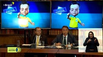 """IMAGEM: Bolsonaro volta a pressionar por voto impresso: """"Não podemos conviver com suspeição"""""""