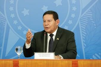 """IMAGEM: Mourão, sobre Bolsonaro na ONU: """"É a visão do nosso governo"""""""