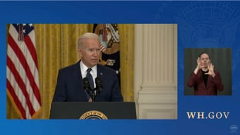 IMAGEM: Biden agora diz que pode enviar mais militares ao Afeganistão