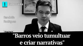 """IMAGEM: """"Barros veio tumultuar e criar narrativas"""", diz Randolfe Rodrigues"""