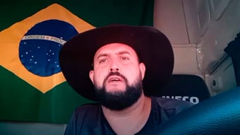 IMAGEM: Caminhoneiro ignora bloqueio de Moraes e divulga novo Pix para atos do 7 de Setembro