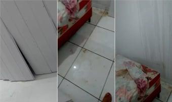 IMAGEM: Forro desaba e inunda casa dois dias após entrega da qual Bolsonaro participou