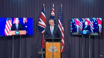 IMAGEM: Austrália faz pacto com EUA e Reino Unido por submarino nuclear