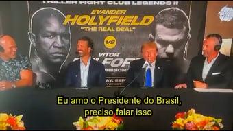 """IMAGEM: Trump elogia Bolsonaro em luta de boxe: """"Adoro o presidente do Brasil"""""""