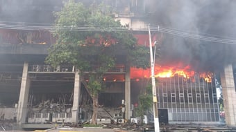 IMAGEM: Incêndio atinge Tribunal de Justiça do Ceará