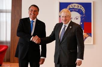 IMAGEM: Embaixada contesta Bolsonaro sobre suposto pedido de Boris Johnson