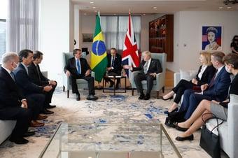 IMAGEM: Boris Johnson faz teste de Covid após reunião com Bolsonaro e Queiroga