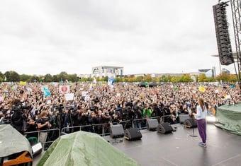 IMAGEM: A 2 dias das eleições na Alemanha, Greta participa de ato pelo clima no país
