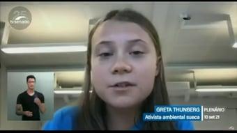 """IMAGEM: Greta Thunberg: """"O que os líderes do Brasil estão fazendo hoje é vergonhoso"""""""