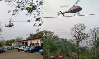 IMAGEM: Piloto de helicóptero faz manobra após ser sequestrado e evita fuga em presídio