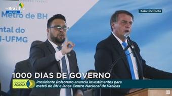 """IMAGEM: Bolsonaro elogia a """"humildade"""" do """"nosso governador Romeu Zema"""""""