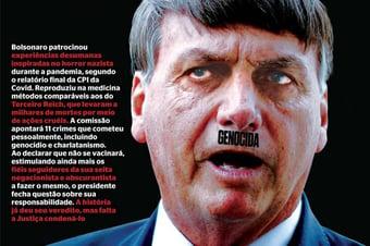 IMAGEM: Governo pede direito de resposta à IstoÉ por capa que associa Bolsonaro a Hitler