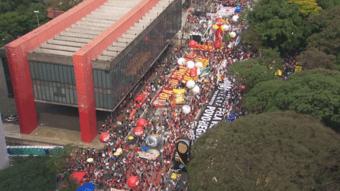IMAGEM: Governo de SP estima 8 mil pessoas em ato contra Bolsonaro na Paulista