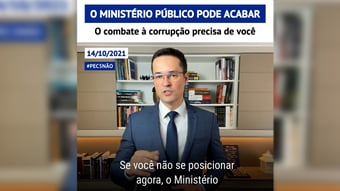 """IMAGEM: Deltan: """"Se você não se posicionar agora, o Ministério Público vai deixar de existir"""""""