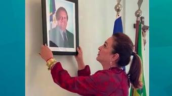 IMAGEM: Kátia Abreu tira de seu gabinete retrato de governador afastado pelo STJ; assista