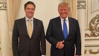 """IMAGEM: Trump e """"príncipe"""" anunciam rede social """"para combater tirania das Big Techs"""""""