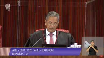IMAGEM: 2 x 0 – Campbell vota contra cassação da chapa Bolsonaro-Mourão