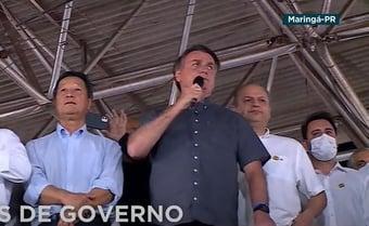 "IMAGEM: ""Nunca apoiamos medidas restritivas"", diz Bolsonaro"