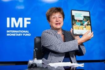 IMAGEM: Apoio a Kristalina Georgieva afeta credibilidade dos dados do FMI sobre a China