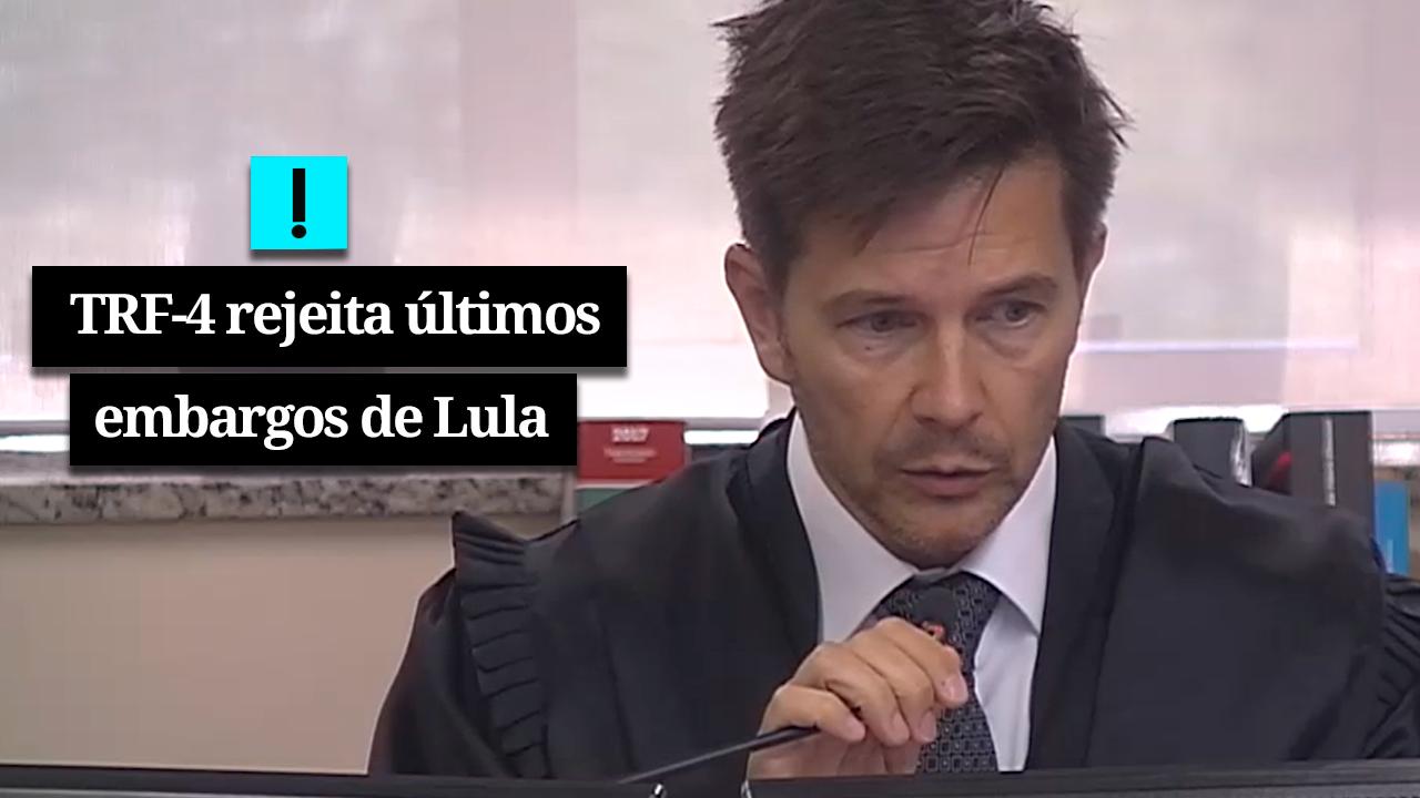 IMAGEM: URGENTE: TRF-4 REJEITA ÚLTIMOS EMBARGOS DE LULA