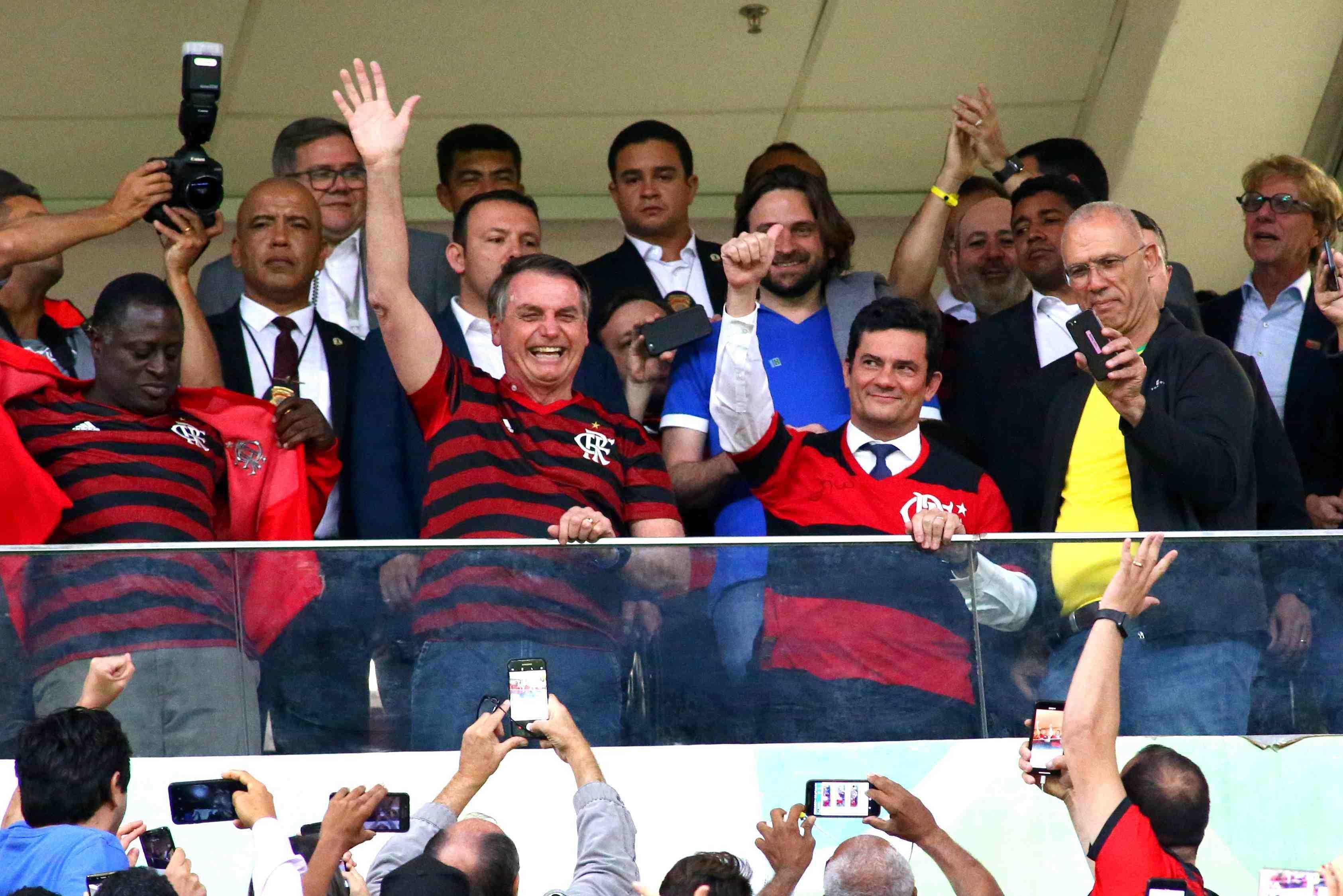 IMAGEM: Bolsonaro vai ao Maracanã para ver o Flamengo
