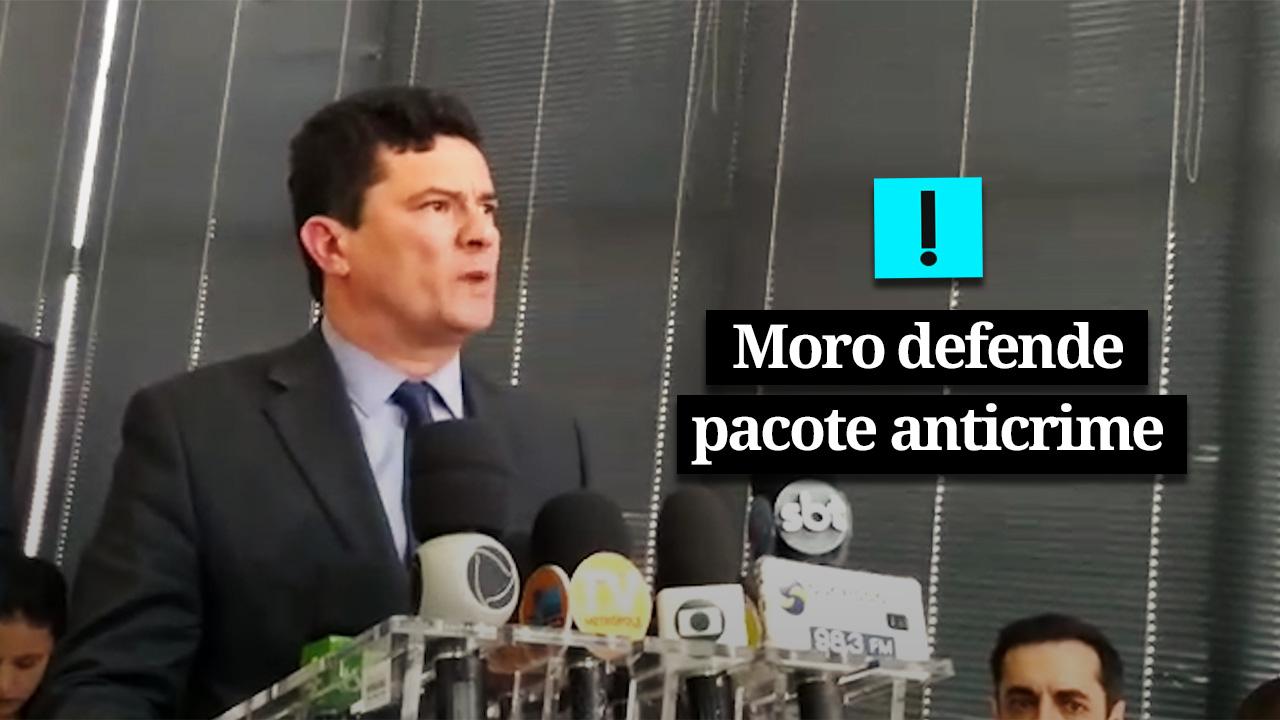 IMAGEM: VÍDEO: Moro defende pacote anticrime e rechaça associações com o caso Agatha