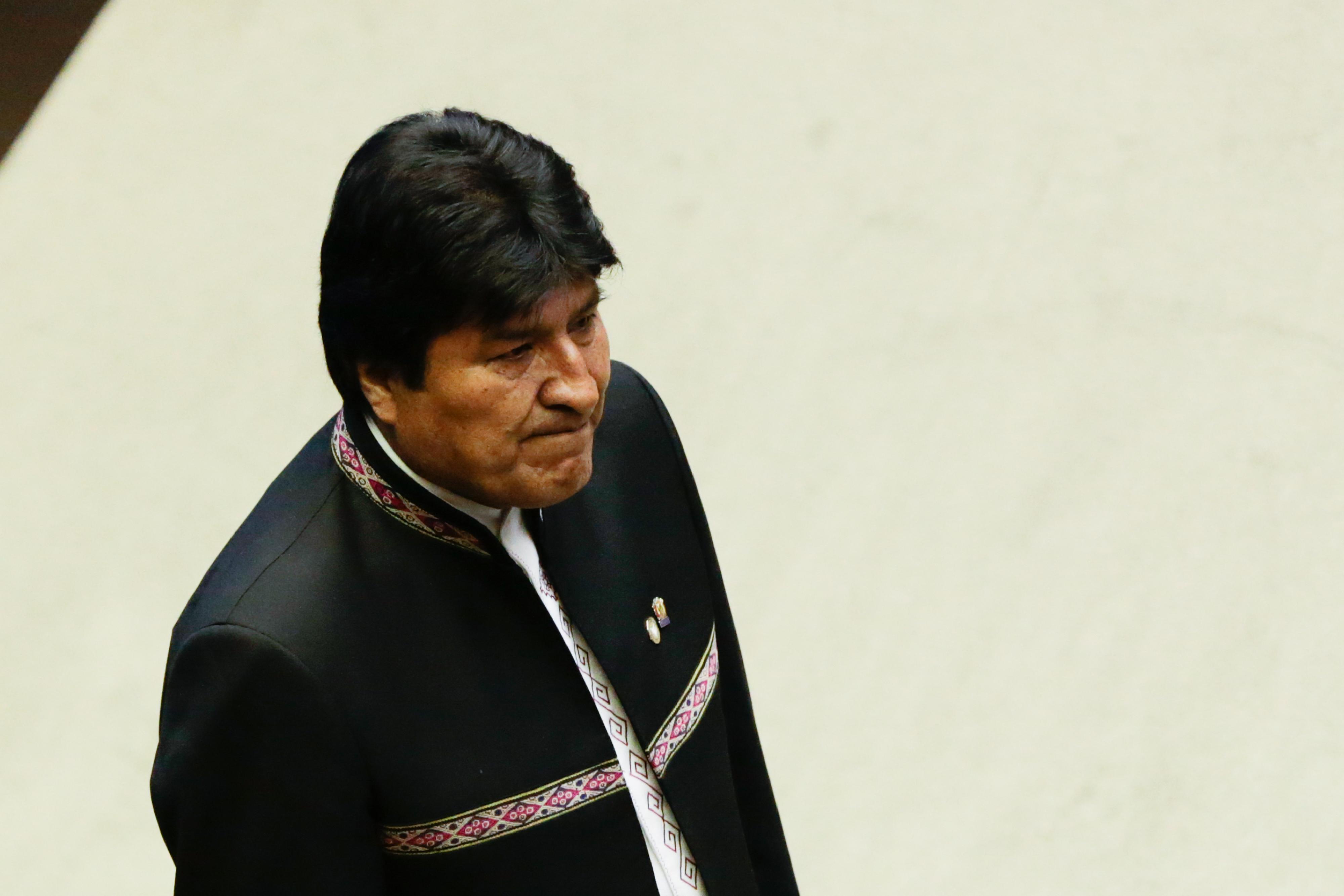 IMAGEM: Tribunal eleitoral da Bolívia oficializa impugnação de Evo Morales