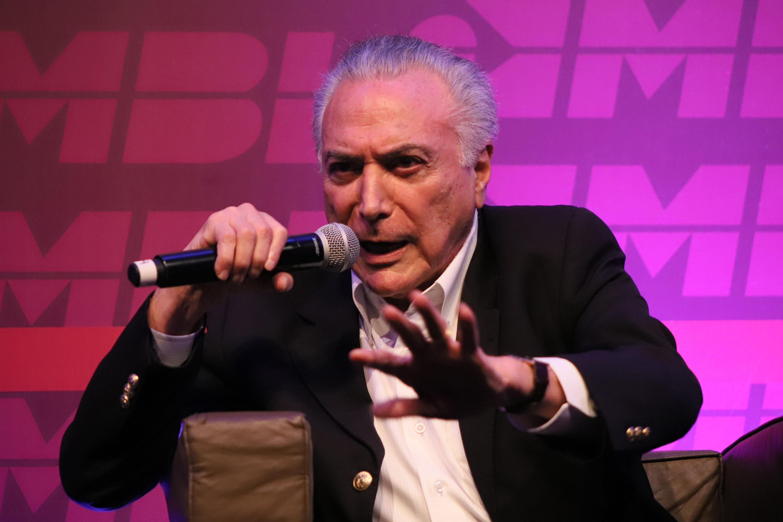 IMAGEM: Temer defende atuação de Moraes e inquérito das fake news