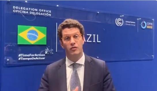 """IMAGEM: Ricardo Salles: """"COP-25 não deu em nada"""""""