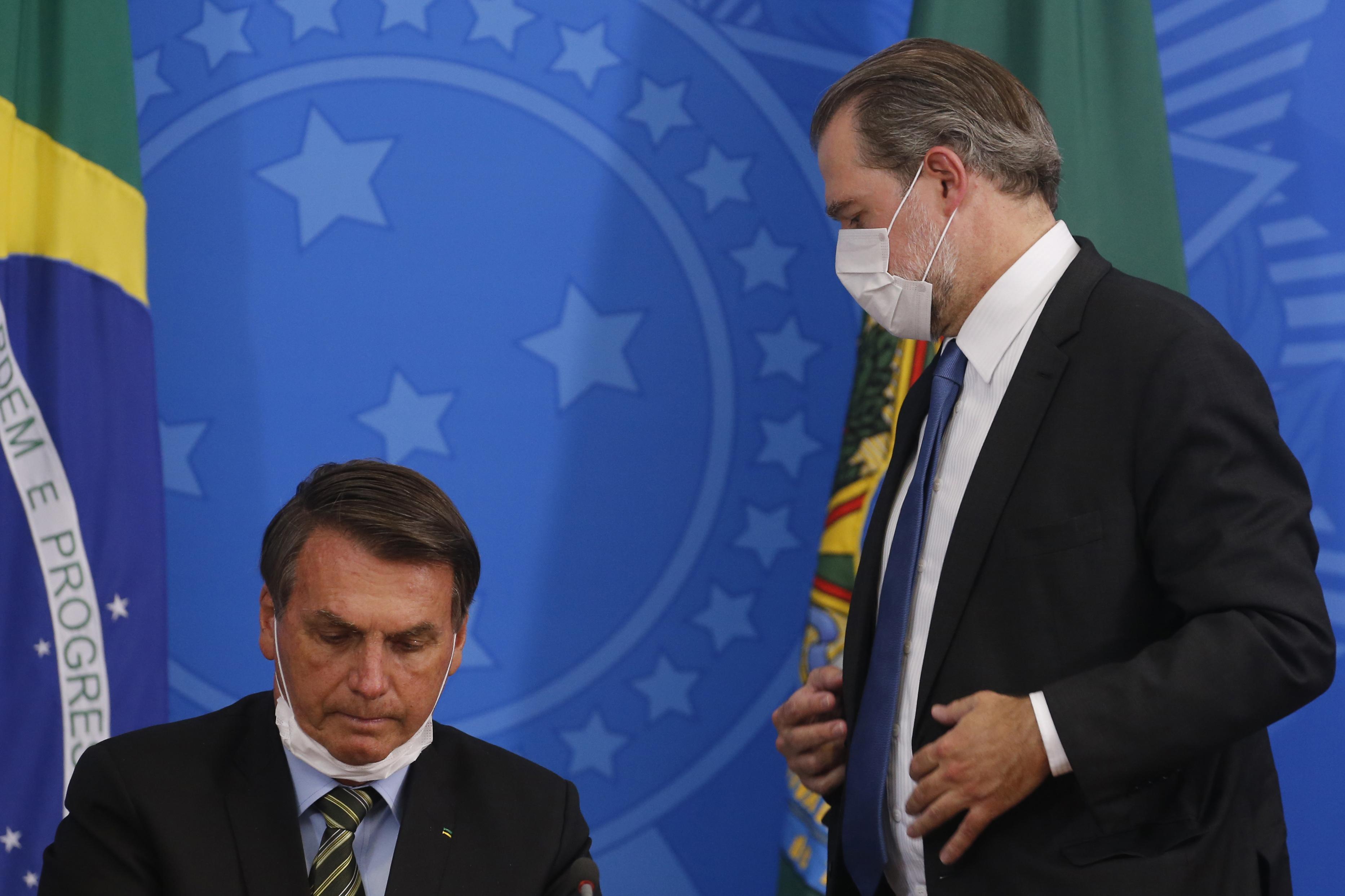 IMAGEM: Harmonia entre Toffoli e Bolsonaro