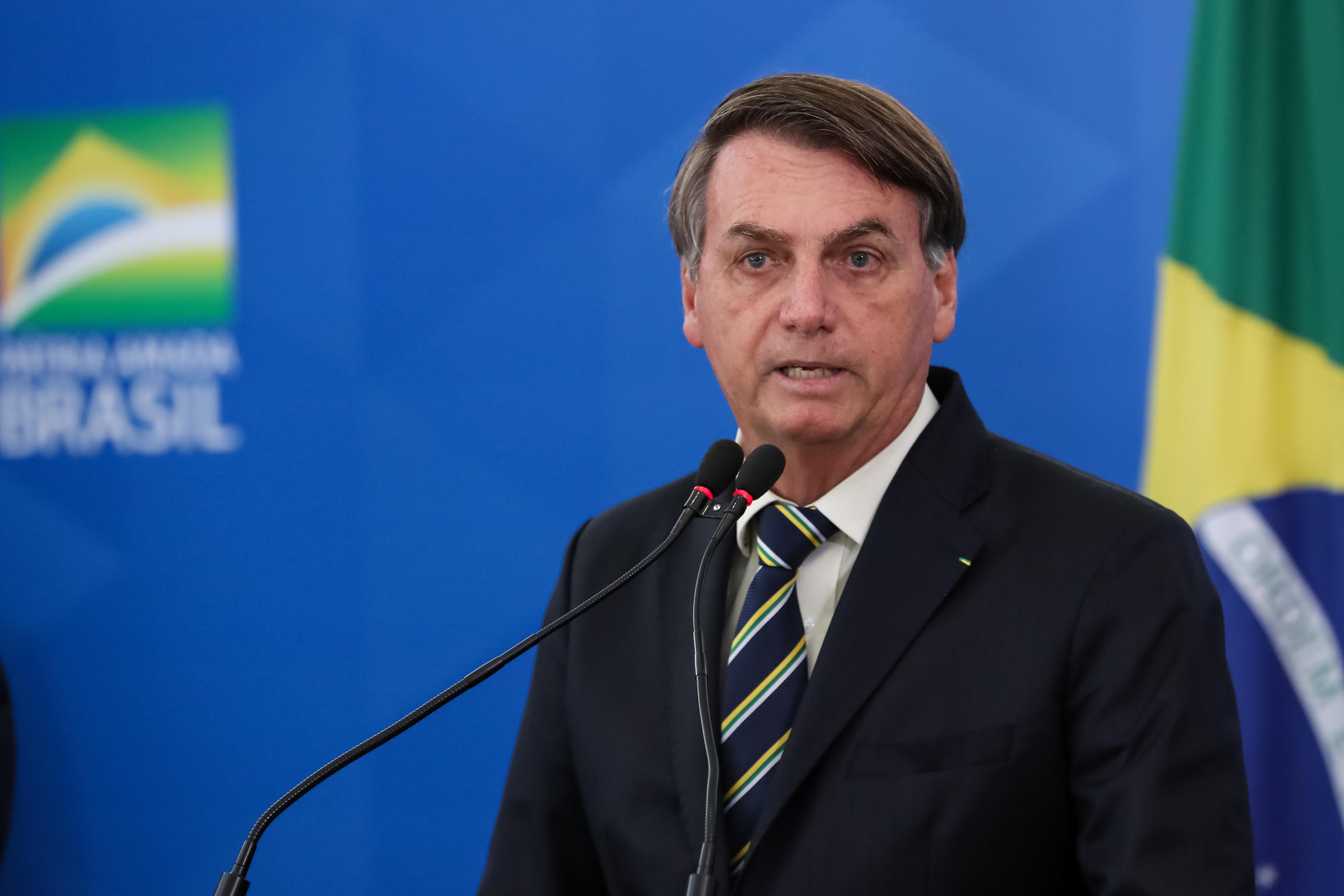 "IMAGEM: ""A pandemia foi superdimensionada"", diz Bolsonaro"