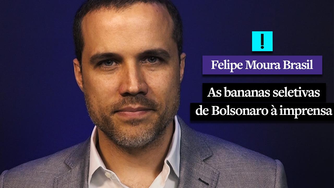 IMAGEM: Vídeo: as bananas seletivas de Bolsonaro à imprensa