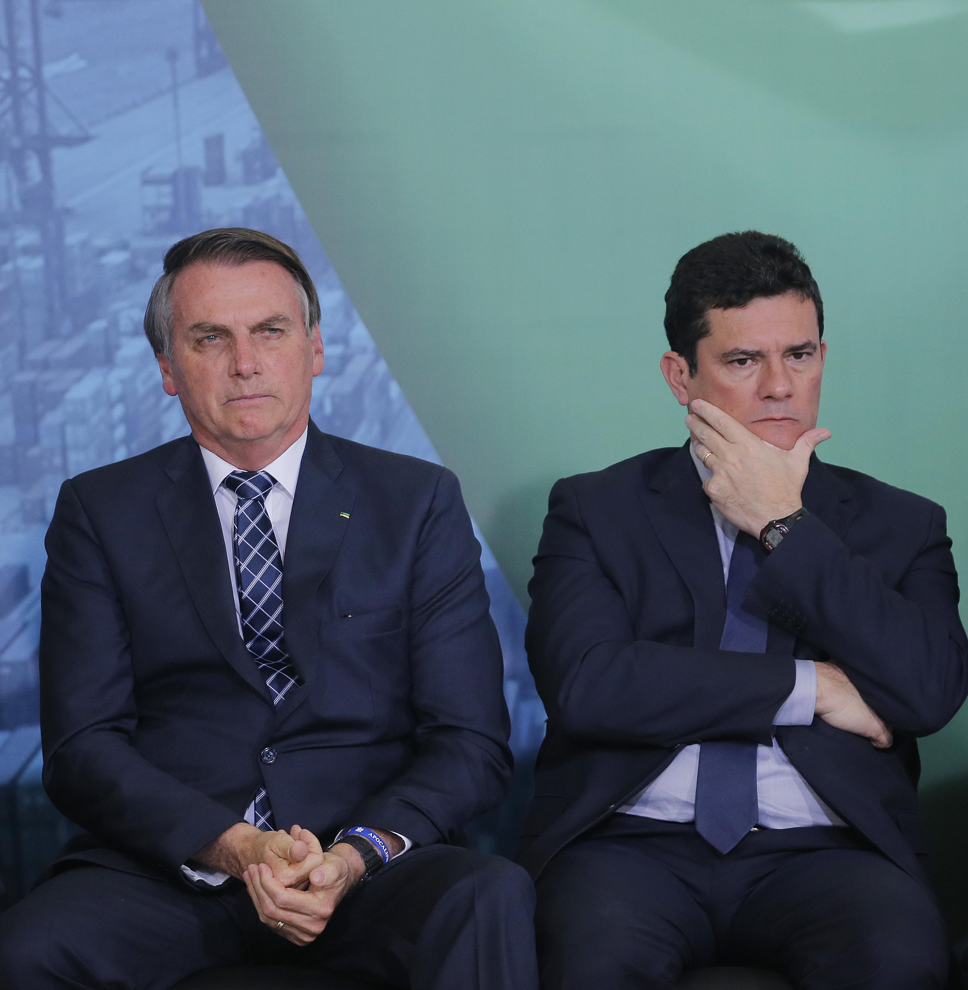 IMAGEM: Moro desmente Bolsonaro e diz que não usou nomeação para o STF como 'moeda de troca'