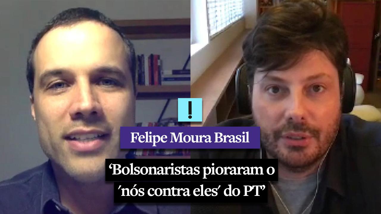 """IMAGEM: """"Bolsonaristas pioraram o 'nós contra eles' do PT"""", diz Danilo Gentili"""