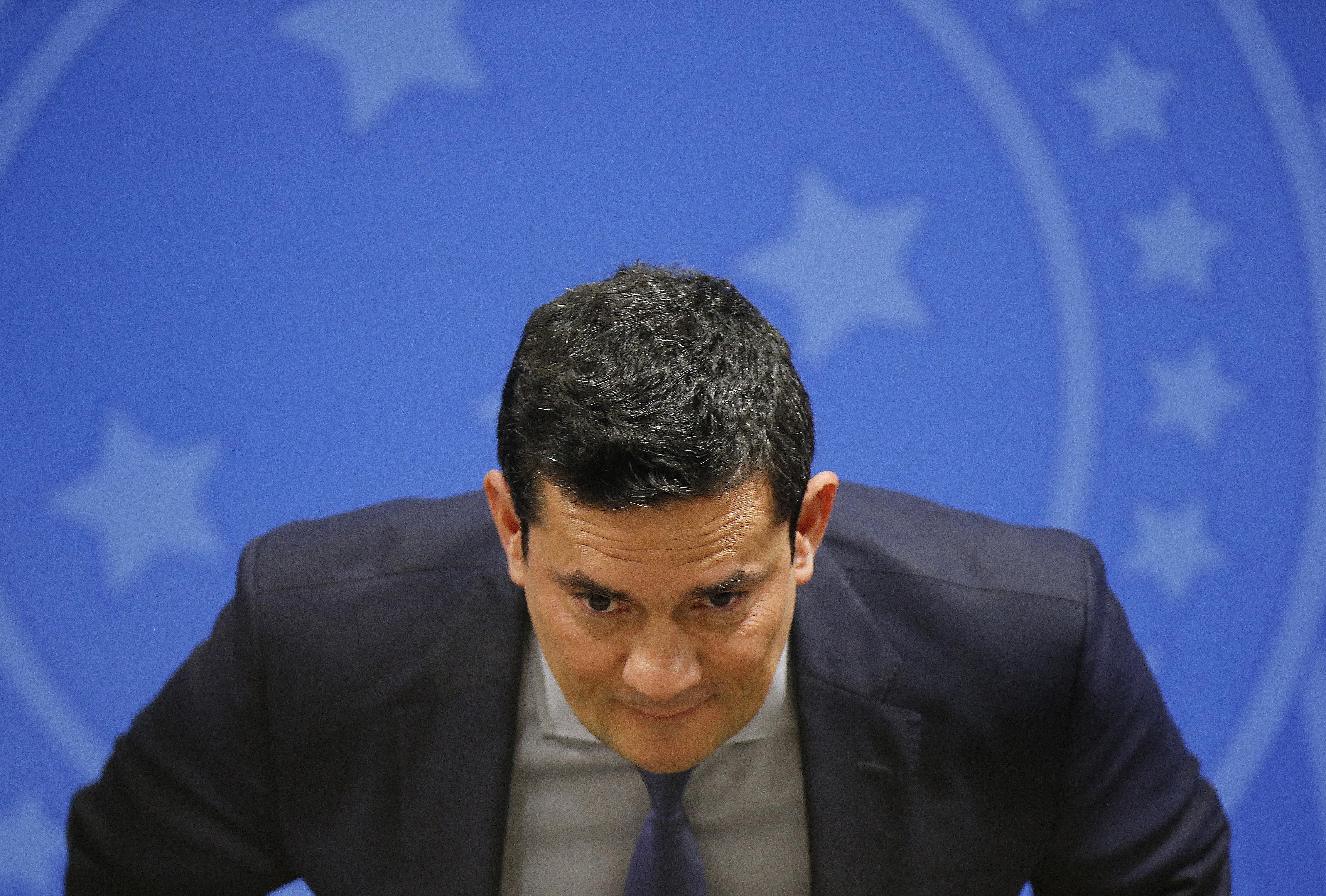 """IMAGEM: """"Se eu fico, jogo fora minha consciência"""", diz Moro, sobre sua saída do governo Bolsonaro"""
