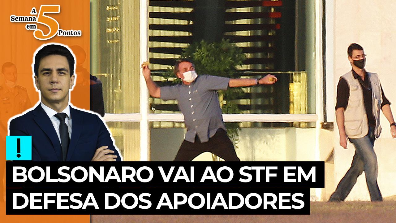 IMAGEM: A Semana em 5 Pontos: Bolsonaro vai ao STF em defesa dos apoiadores