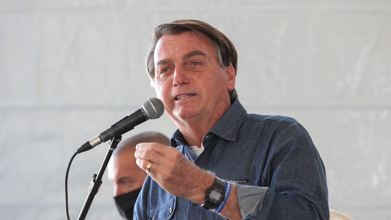 IMAGEM: O palanque de Bolsonaro no Vale do Ribeira, em São Paulo