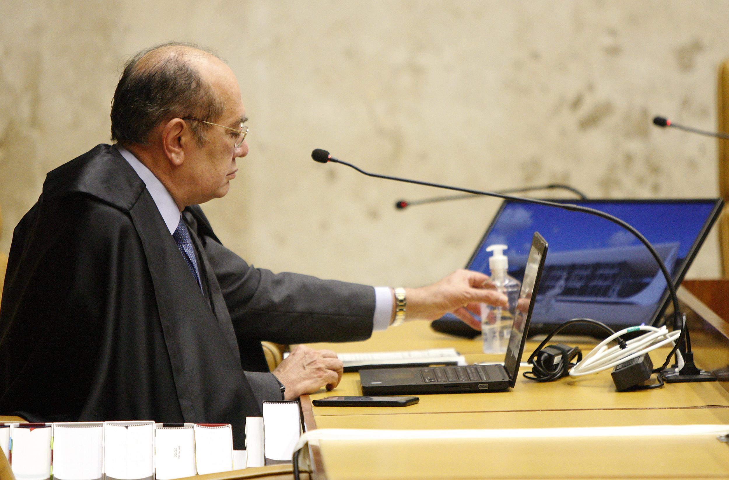 IMAGEM: Pedido de vista mais antigo de Gilmar Mendes tem banco como interessado