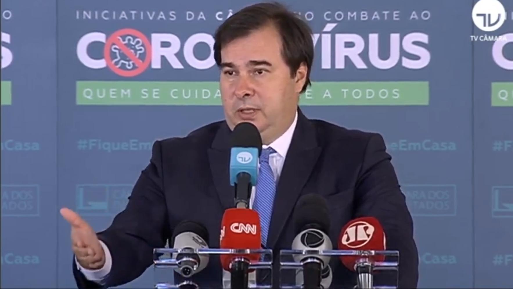 """IMAGEM: Maia descarta Moro em 2022: """"Agora é consultor"""""""