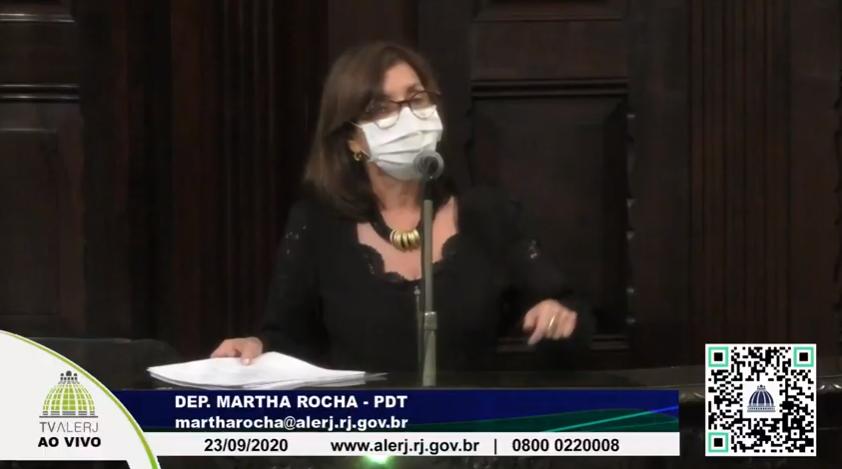 IMAGEM: Martha Rocha pede retirada de homenagem a 'homem-bomba' do governo Witzel