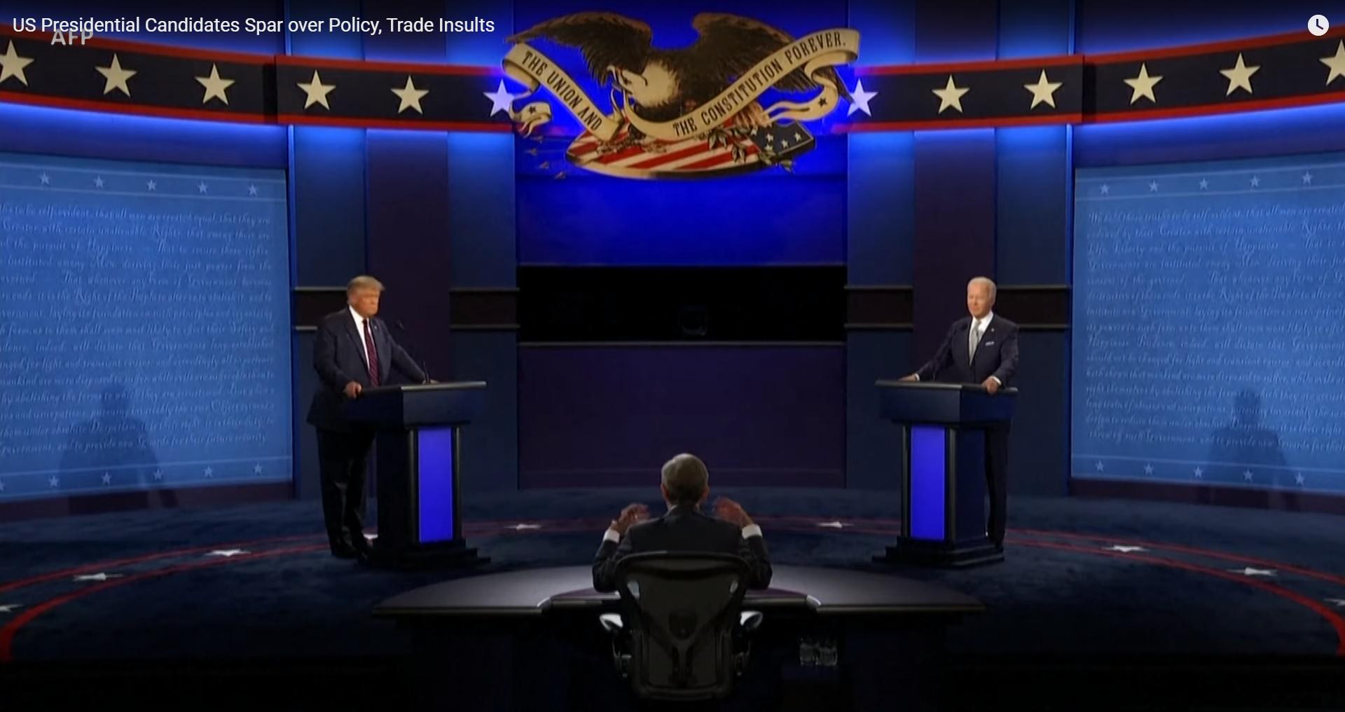 IMAGEM: Trump rejeita mudança de regras em debates com Biden