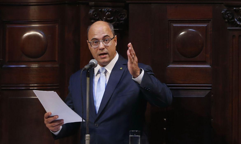 IMAGEM: Em defesa, Witzel pede que tribunal julgue impeachment sem emoção