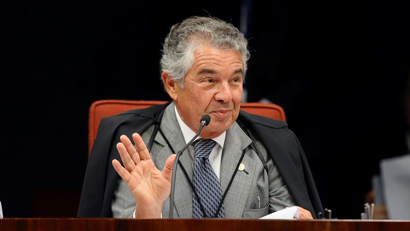 IMAGEM: Marco Aurélio diz que ficaria feliz com Mendonça ou Aras como sucessor