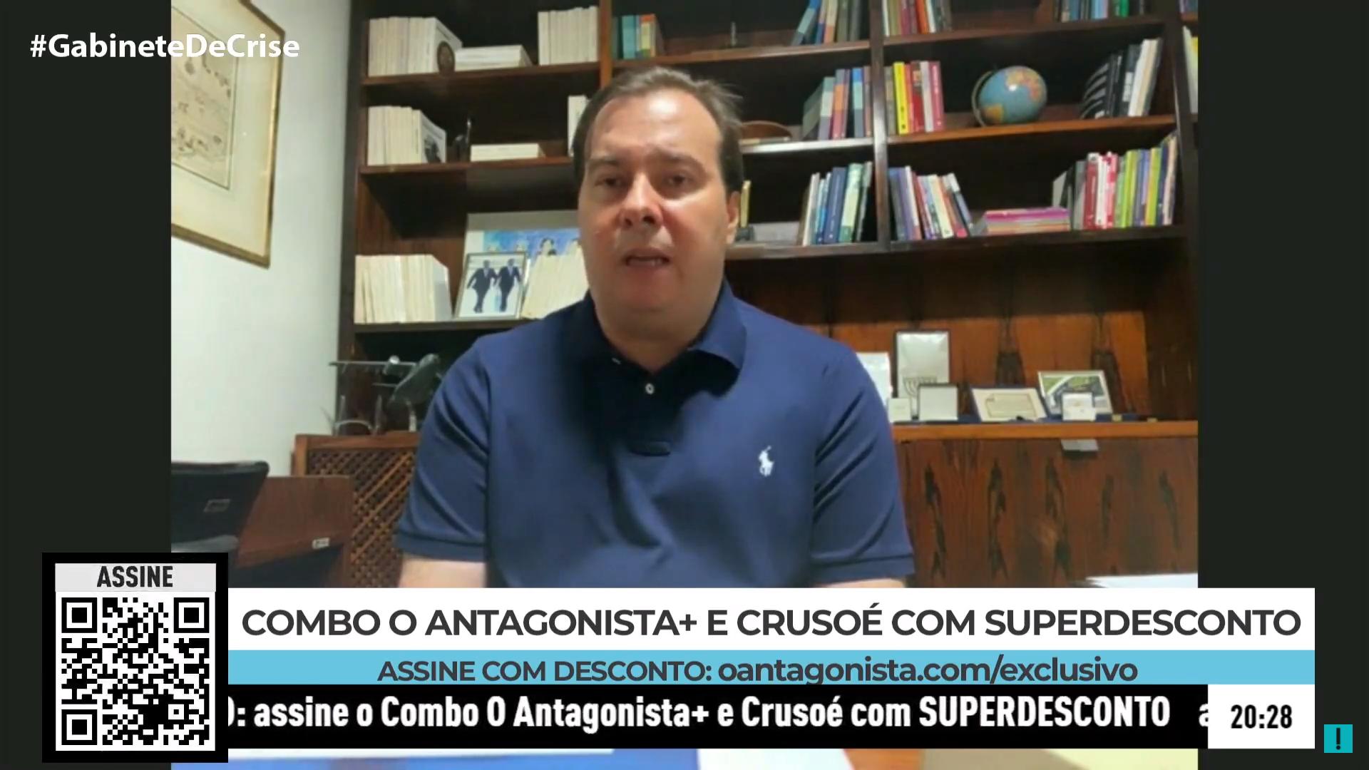 IMAGEM: PV tende a caminhar com Rodrigo Maia