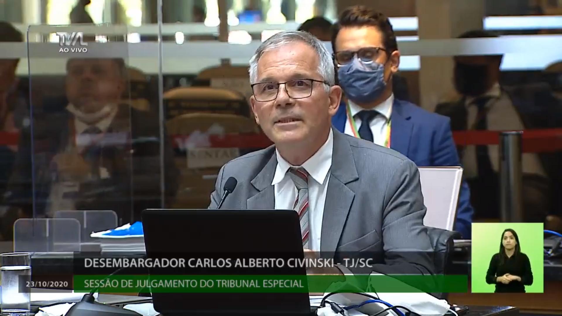 IMAGEM: 1×1: desembargador vota contra afastamento de Carlos Moisés em Santa Catarina